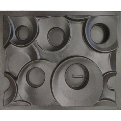 Пластиковые формы 3D перегородки «Кольца»