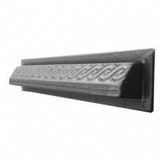 Пластиковые формы  «Фасадного бордюра с косичкой»