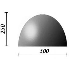 Пластиковые формы «Полусфера 500х250»/л