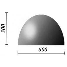 Пластиковые формы «Полусфера 600х300»